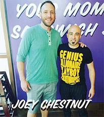 Joey Chestnut and Ike